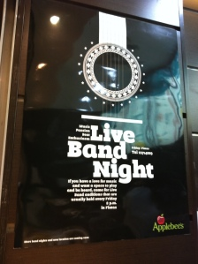 Live Band Auditions - Applebee's Fintas Kuwait - Poster
